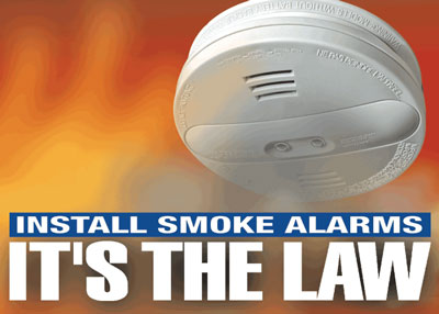 Install Smoke Alarms - It's the Law